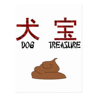 Kanji Dog Treasure Postcard