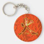Kanji: Fire - Keychain