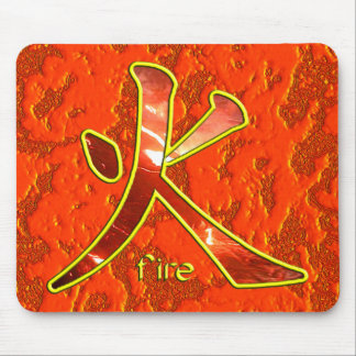 Kanji: Fire - Mousepad