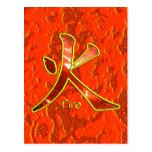 Kanji: Fire - Postcard
