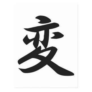 Kanji for Change Postcard