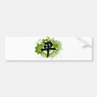Kanji for Peace Bumper Sticker