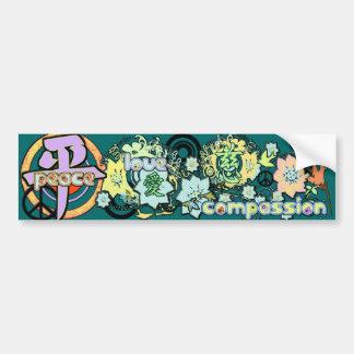 Kanji for Peace-Love-Compassion - Car Bumper Sticker