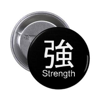 Kanji for strength T-shirt Buttons