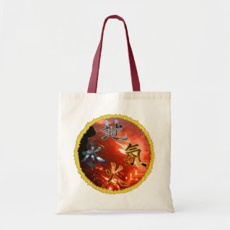 Kanji: Four Elements - Budget Tote #3 Canvas Bag
