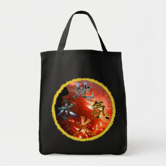 Kanji: Four Elements - Grocery Tote #3 Bags