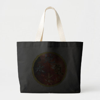 Kanji: Four Elements - Jumbo Tote #3 Canvas Bags
