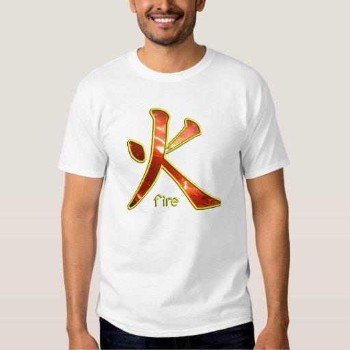 Kanji: Fuego - la camiseta #2 del niño Remera