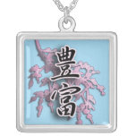 Kanji Japanese Symbol for Abundance Necklace