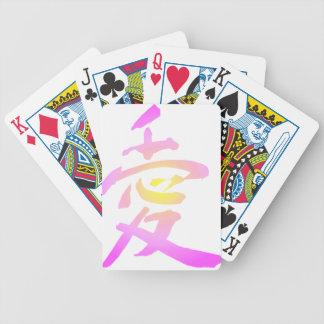 Kanji japonés - amor baraja de cartas