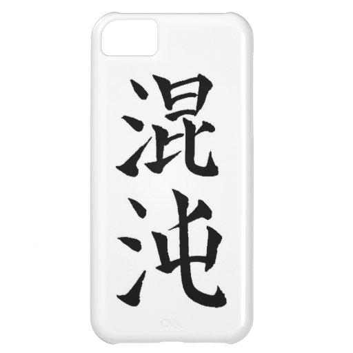 Kanji japonés de Konton para el caos Funda Para iPhone 5C