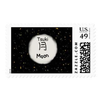 Kanji japonés de la luna sellos