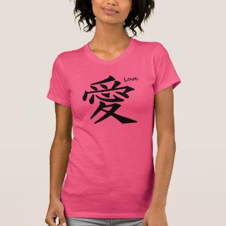 Kanji japonés del amor logográfico playera