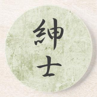 Kanji japonés para el caballero - Shinshi Posavaso Para Bebida