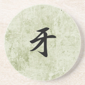Kanji japonés para el colmillo - Kiba Posavaso Para Bebida