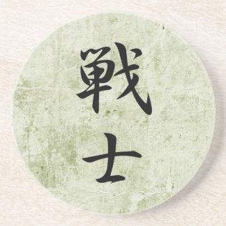 Kanji japonés para el combatiente - Senshi Posavasos Para Bebidas