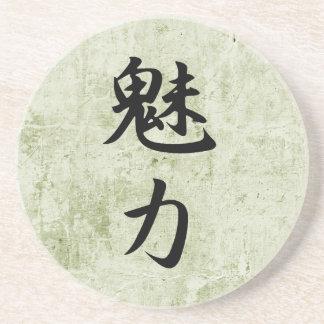 Kanji japonés para el encanto - Miryoku Posavasos Personalizados