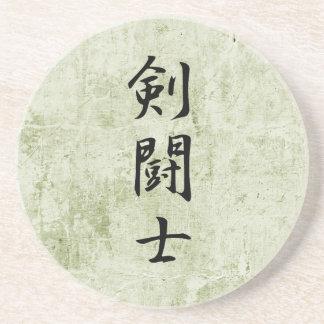 Kanji japonés para el gladiador - Kentoushi Posavasos Diseño