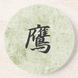 Kanji japonés para el halcón - taka posavasos manualidades