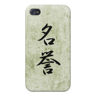 Kanji japonés para el honor - Meiyo iPhone 4 Cárcasa
