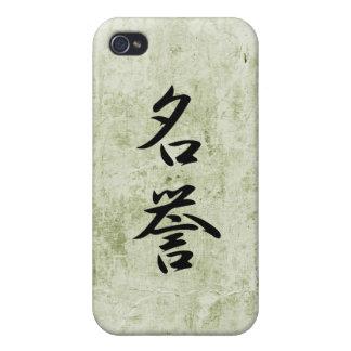 Kanji japonés para el honor - Meiyo iPhone 4/4S Fundas