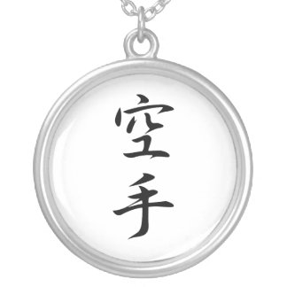 Kanji japonés para el karate - karate pendiente personalizado