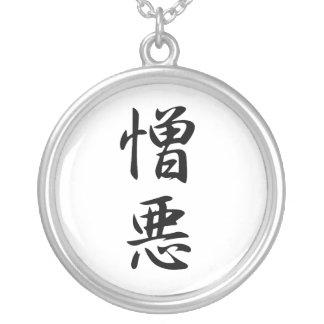 Kanji japonés para el odio - Zouo Colgante Redondo