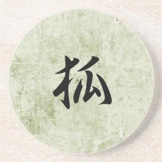 Kanji japonés para Fox - Kitsune Posavaso Para Bebida
