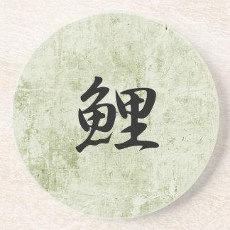 Kanji japonés para la carpa - Koi Posavasos Manualidades