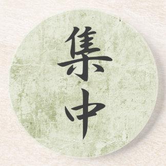 Kanji japonés para la concentración - Shuuchuu Posavasos Para Bebidas