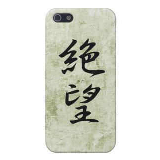 Kanji japonés para la desesperación - Zetsubou iPhone 5 Fundas