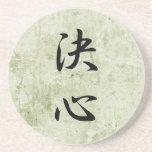 Kanji japonés para la determinación - Kesshin Posavasos Manualidades