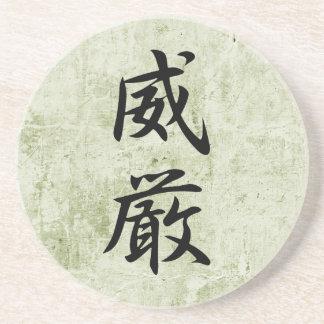Kanji japonés para la dignidad - Igen Posavasos Cerveza