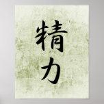 Kanji japonés para la energía - Seiryoku Impresiones