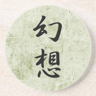 Kanji japonés para la ilusión - Gensou Posavasos Cerveza