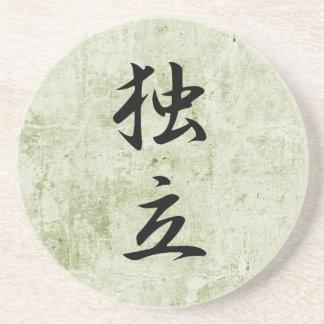 Kanji japonés para la independencia - Dokuritsu Posavaso Para Bebida