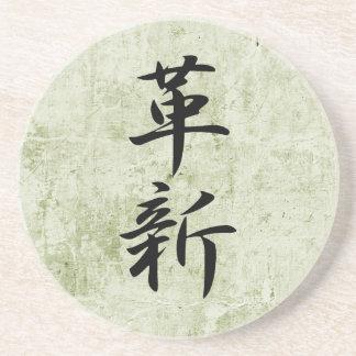 Kanji japonés para la innovación - Kakushin Posavaso Para Bebida