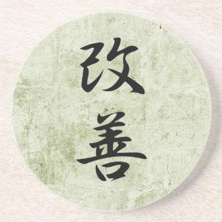 Kanji japonés para la mejora - Kaizen Posavaso Para Bebida