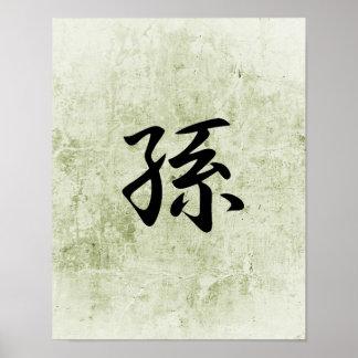 Kanji japonés para la nieta - mago poster