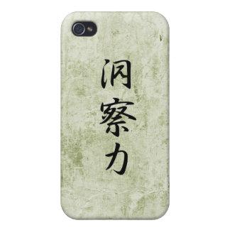 Kanji japonés para la penetración - Dousatsuryoku iPhone 4 Carcasa