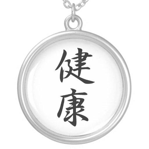 Kanji japonés para la salud - Kenkou Colgante Redondo