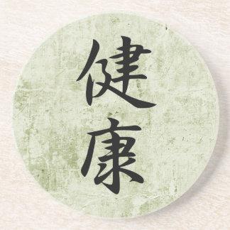 Kanji japonés para la salud - Kenkou Posavasos Personalizados