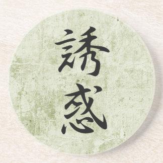 Kanji japonés para la tentación - Yuwaku Posavasos Diseño