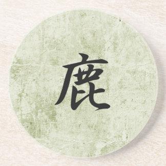 Kanji japonés para los ciervos - Shika Posavasos Para Bebidas
