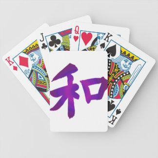 Kanji japonés - paz cartas de juego