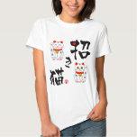 "Kanji japonés tentar de ""Manekineko"" - el gato Remeras"