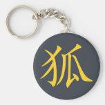 Kanji- Kitsune (Fox) Keychain