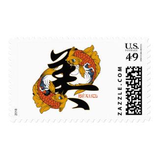 Chinese symbol tattoos custom postage and chinese symbol for Fish symboled stamp