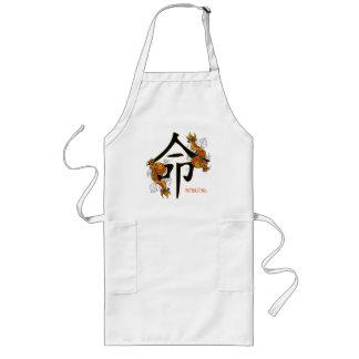 Kanji Koi Fish Destiny Long Apron