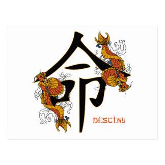 Kanji Koi Fish Destiny Postcard